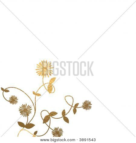 Golden Foliage Background