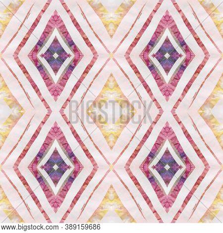 Aztec Rugs. Abstract Shibori Design. Seamless Tie Dye Illustration. Ethnic Turkish Motif. Pastel Bro