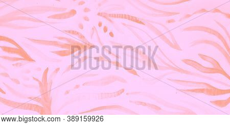 Vintage Fabric. Modern Composition. Fuchsia Creative Poster With Cold Element. Rose And Coral Mauve