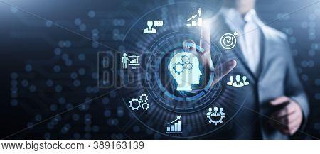 Training Webinar Business Development Education Concept On Screen.