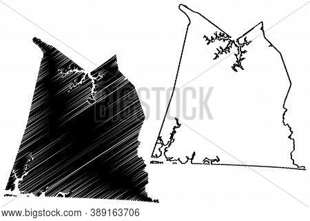 Clinton County, Kentucky (u.s. County, United States Of America, Usa, U.s., Us) Map Vector Illustrat