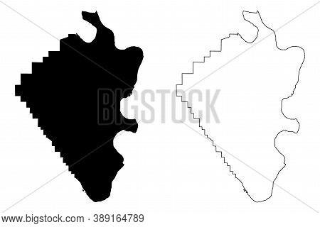 Mississippi County, Missouri (u.s. County, United States Of America, Usa, U.s., Us) Map Vector Illus