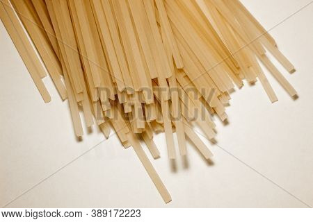 Vermicelli  Close-up. Raw Vermicelli Pasta Background. Vermicelli For Cooking