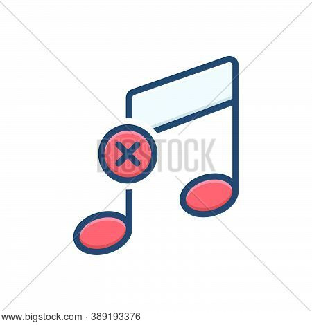 Color Illustration Icon For Offbeat Unconventional Unaccustomed Noise Strange Weird Unusual