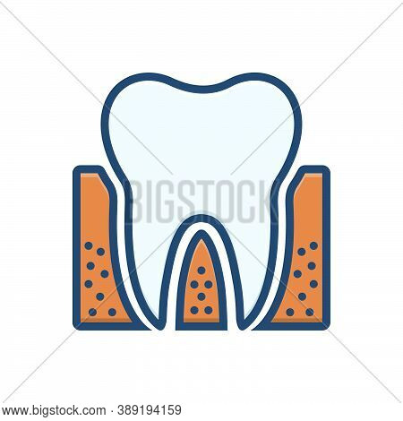 Color Illustration Icon For  Orthodontic Periodontics Dental Teeth Dental-care Dental-logos Smile De