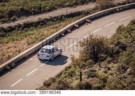 Col De San Colombano, Corsica, France - 8th October 2020: Pascal Phelippeau & Floriane Phelippeau Co
