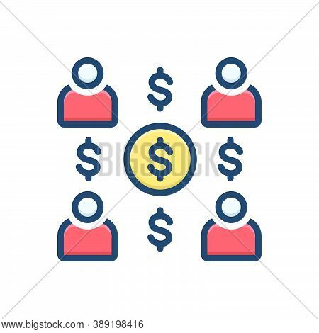 Color Illustration Icon For Employee-costs Expenses Salary People Group Team Worker Staff Costs