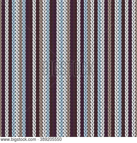 Soft Vertical Stripes Knit Texture Geometric Vector Seamless. Ugly Sweater Knit Tricot  Fabric Print