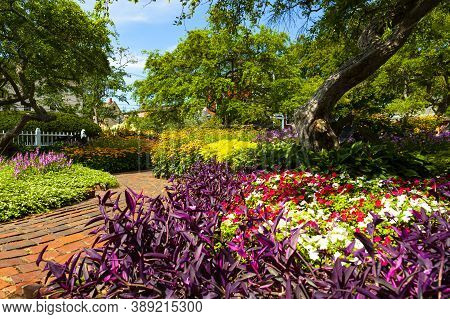Prescott Park In Portsmouth, New Hampshire Is The Most Popular City Park Which Features Extensive Fl