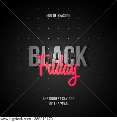 Vector Black Friday Banner. Abstract Black Template Black Friday Sale. Stock Vector Illustration.