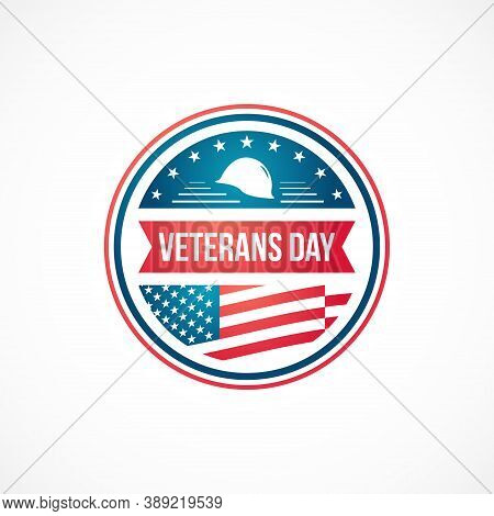 Veterans Day Design Template For Badges, Labels, Emblems, And Banners. Veterans Day, United States H