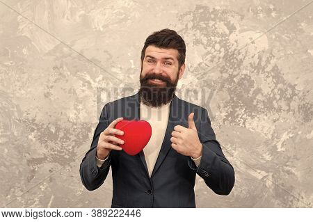Excellent Celebration Ideas For Low Budget. Fall In Love. Love And Romance Concept. Bearded Man Hold