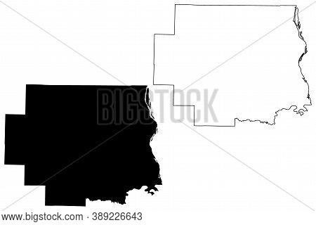 Lincoln County, Missouri (u.s. County, United States Of America, Usa, U.s., Us) Map Vector Illustrat