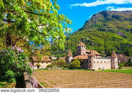Maretsch Castle Or Castel Mareccio Is A Medieval Fort In The Historic Center Of Bolzano In South Tyr