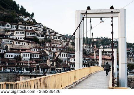 Berat, Albania. October 2020. Old Town Berati, Windows In Berat - Also Called City Of A Thousand Win