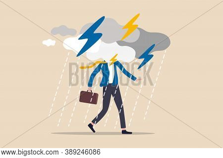 Business Problem, Obstacle Or Risk To Overcome And Succeed, Insurance Or Catastrophe And Disaster Bu