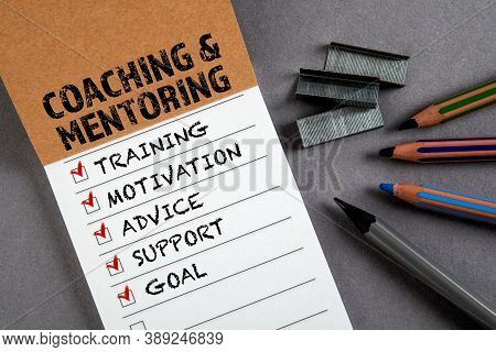 Coaching And Mentoring Concept. To Do List. Notepad With Pencils