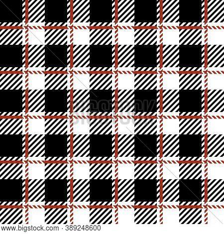 Buffalo Plaid Print Seamless Pattern, Black And White Lumberjack Print, Plaid Check Pattern For Text