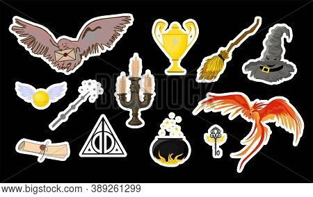 Halloween Stickers. Magic Items For Halloween. Magic And Witchcraft. Hogwarts School Of Magic. Harry