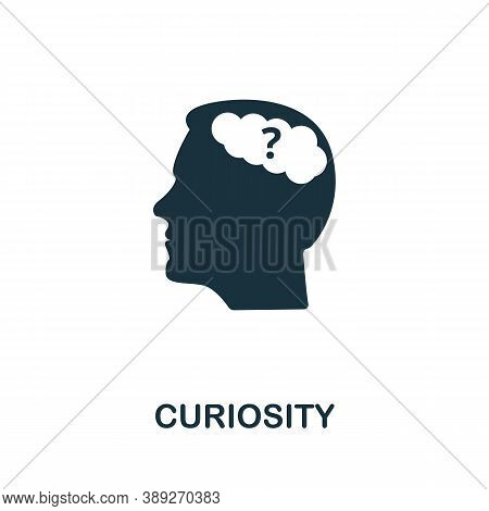 Curiosity Icon. Simple Element From Life Skills Collection. Filled Curiosity Icon For Templates, Inf