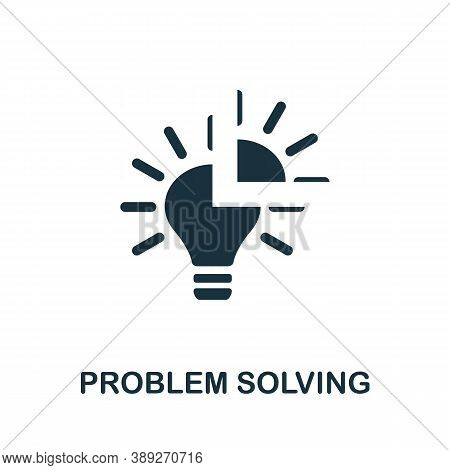 Problem Solving Icon. Simple Element From Life Skills Collection. Filled Problem Solving Icon For Te