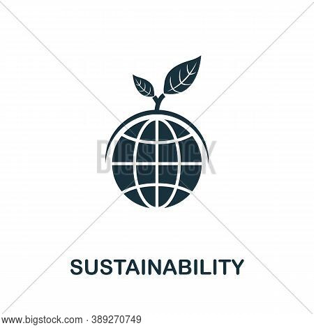 Sustainability Icon. Simple Element From Life Skills Collection. Filled Sustainability Icon For Temp