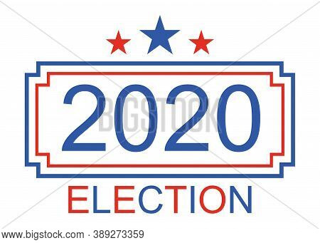 Election 2020 In Usa. American Presidential Election. Vote For President. November Campaign. Republi