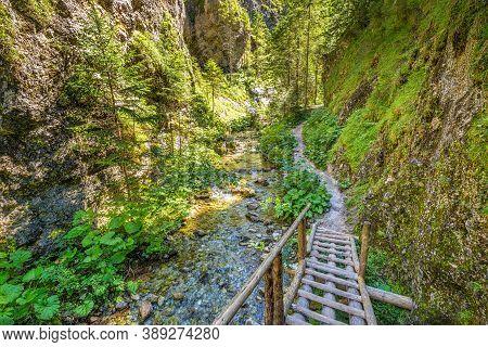 Mountain Landscape In The Juranova Dolina - Valley In The Western Tatras, The Tatra National Park, S