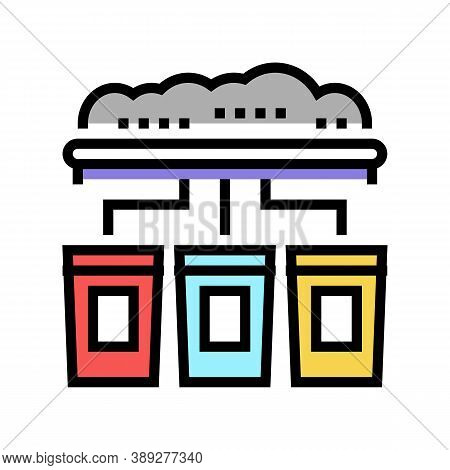 Garbage Sorting Machine Color Icon Vector. Garbage Sorting Machine Sign. Isolated Symbol Illustratio