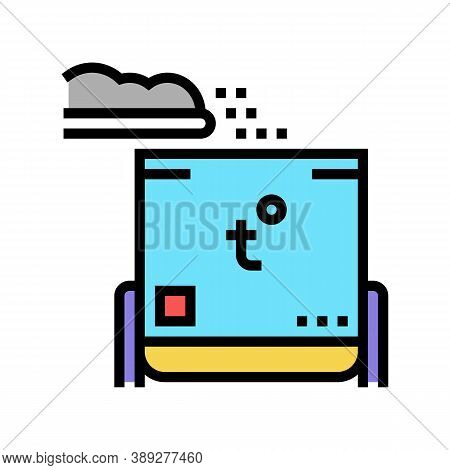 Rubbish Heating Equipment Color Icon Vector. Rubbish Heating Equipment Sign. Isolated Symbol Illustr