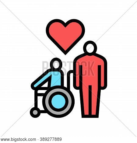Invalid Assistance Color Icon Vector. Invalid Assistance Sign. Isolated Symbol Illustration