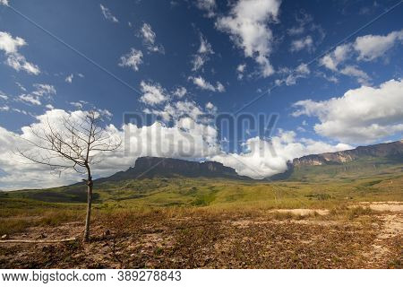 Roraima And Kukenan Table Mountains, La Gran Sabana, Canaima National Park, Venezuela