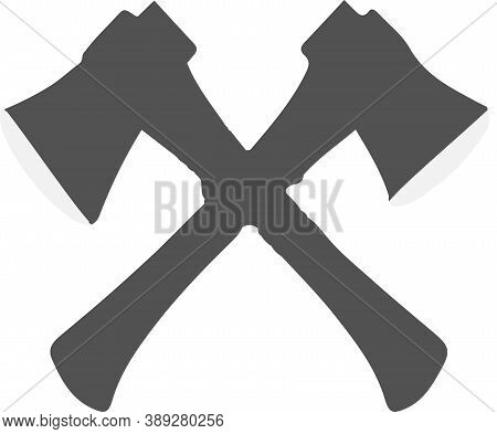 Ax Icon Isolated On White Background Work With An Ax