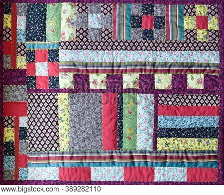 A View Of A  Beautiful Patchwork Quilt