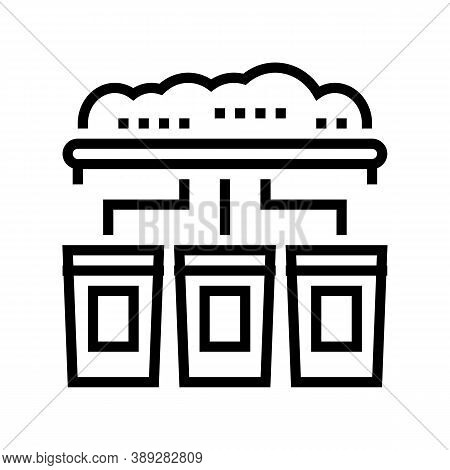 Garbage Sorting Machine Line Icon Vector. Garbage Sorting Machine Sign. Isolated Contour Symbol Blac