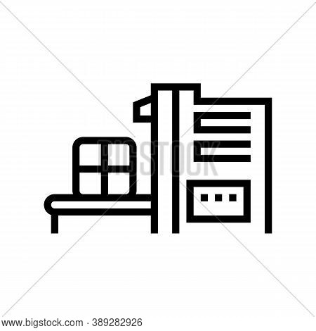Sorting Waste Machine Line Icon Vector. Sorting Waste Machine Sign. Isolated Contour Symbol Black Il