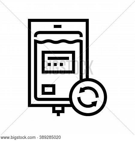 Blood Transfusion Line Icon Vector. Blood Transfusion Sign. Isolated Contour Symbol Black Illustrati
