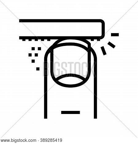 Filing Nail Line Icon Vector. Filing Nail Sign. Isolated Contour Symbol Black Illustration