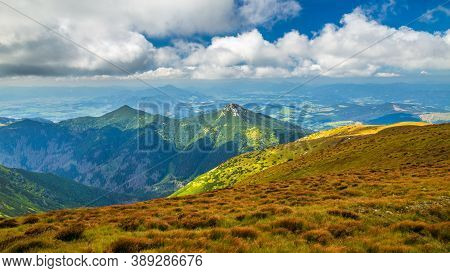 Mountain Landscape With Hill Of The Sivy Vrch In The Western Tatras, The Tatra National Park, Slovak