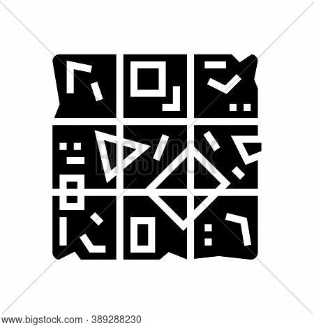 Sorted Garbage Cube Glyph Icon Vector. Sorted Garbage Cube Sign. Isolated Contour Symbol Black Illus
