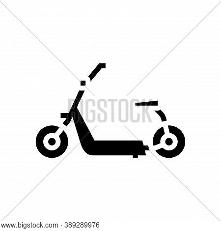 Hover Cart Glyph Icon Vector. Hover Cart Sign. Isolated Contour Symbol Black Illustration