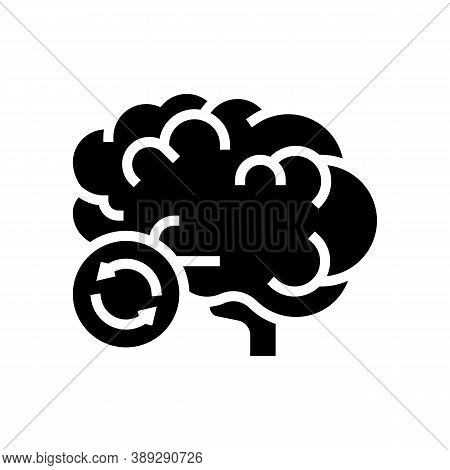 Brain Transplant Glyph Icon Vector. Brain Transplant Sign. Isolated Contour Symbol Black Illustratio
