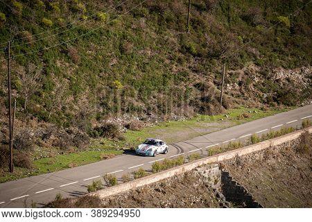 Col De San Colombano, Corsica, France - 8th October 2020: Robin Leyssens & Judiael Vauville Compete