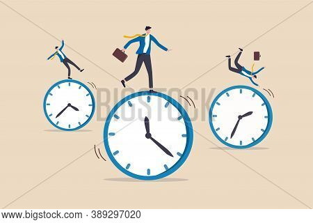 Time Management, Work Schedule And Deadline Or Productivity And Efficiency Work Concept, Businessmen