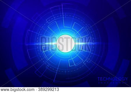 Abstract Technology Background With Various Technological Elements. The Concept Of Innovative High-t