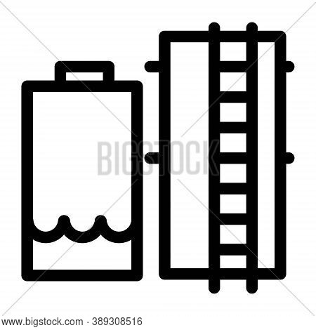 Industrial Plant Boiler Icon. Factory Boiler Room Vector Icon On White Background. Thermal, Steam Bo
