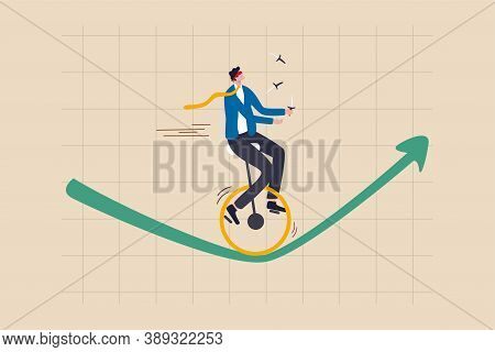 Investment Risk, Insurance, Business Opportunity To Grow Up In Economic Crisis Concept, Confidence I