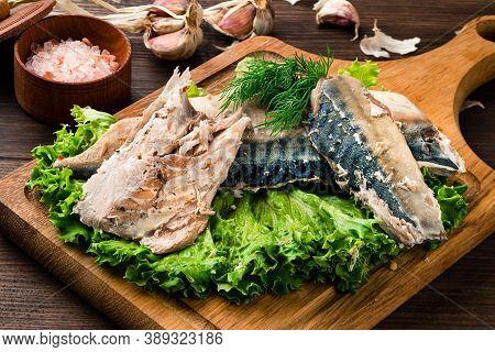 Sous Vide Mackerel Fish Fillet Cooked, Sous-vide Technology Cuisine