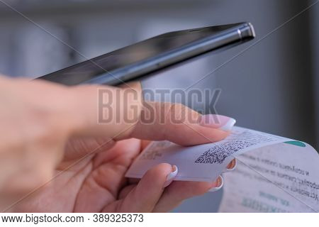 Cash Back, Sales, Online Shopping, Technology, Home Accountancy, Financial Concept. Woman Using Smar