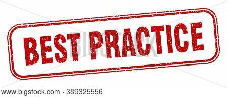 Best Practice Stamp. Best Practice Square Grunge Sign. Label